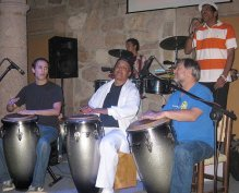 Guanguanco with Roberto Vizcaino, Roberto Vizcaino Jr, Michael Spiro, and Laurentino Galan in Morelia, Mexico