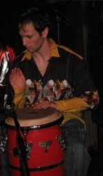 Playing Congas for the Chicago rock band, Pathos Vastus