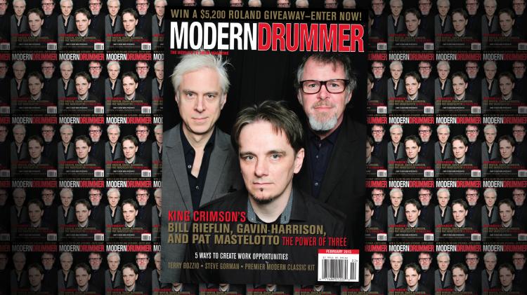 Modern Drummer February 2015